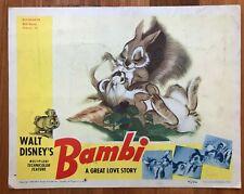 SALE! BAMBI 1942 WALT DISNEY Original Lobby Card-Rare Artwork-THUMPER & RABBITS