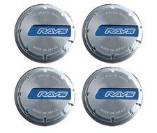 Gram Lights Blue/Chrome WR Center Caps - Set of 4 WCGLBLCH