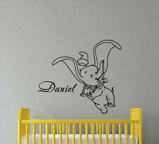 Personalized Name Dumbo Disney Wall Decal Vinyl Sticker Baby Nursery Decor 412