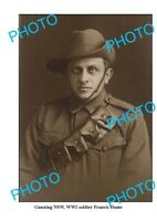 OLD LARGE PHOTO WWI ANZAC SOLDIER FRANCIS HUME FROM GUNNING NSW