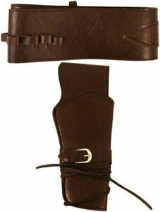 Deluxe Cowboy Holster + Belt Wild West Gun Holder Rodeo Western Adjustable Adult