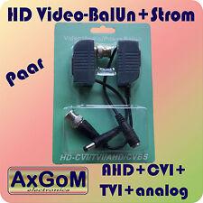 HD Video Balun - RJ45 - AHD/CVI/TVI - Bild- und Strom-Übertragung - Paar