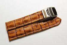 Schönes Uhrenarmband Leder Sicherheitsfaltschließe Leather Watch wrist 18 mm ,.