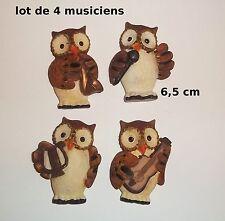 aimant, magnet, lot de 4 aimants chouettes musiciens   G-T1