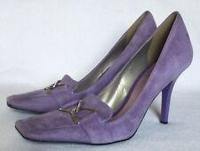 New BCBG Girls Jasmine Lavender Purple Suede Heels sz 8.5 US/38.5 EU