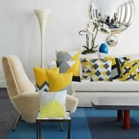 Fashion Geometric Yellow Cushion Cover Cashmere Sofa Pillow Cases Home Decor