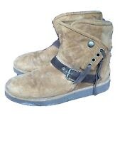 Size 6 Brown Suede Ugg Ankle Boots Buckles