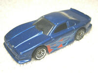 "1997 HOT WHEELS MUSTANG COBRA 1:64 BLUE 2 3/4"" DIECAST CAR W/ RED FLAMES - NICE"
