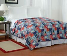 LIGHTHOUSE SAIL BOAT COMPASS SEA NAUTICAL QUILT BEDROOM BEDDING FULL QUEEN SIZE