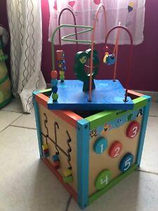 cube d activite en bois occasion 30cm*30cm