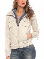 Polyester Hip Length Bomber Coats & Jackets for Women