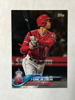 SHOHEI OHTANI 2018 Topps Update HR STREAK SP RC #US189! QTY AVAILABLE!!! ANGELS!