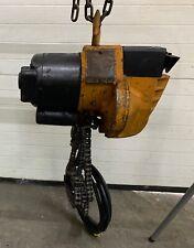 12 Ton 1000lb Yale Midget King Electric Chain Hoist 12d17fag 115v Works Great