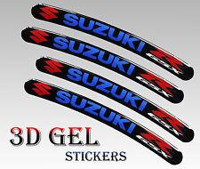 4 DOMED 3D RIM WHEEL STICKERS STRIPE SUZUKI R GSX CAR MOTORBIKE MOTORCYCLE R33