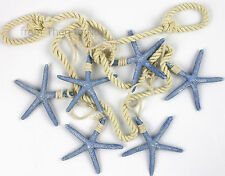 Nautical Blue Hanging Starfish Decoration Rope Garland Hanger Beach Sea Rustic