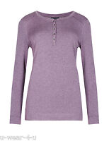 LADIES EX FAMOUS STORES LONG SLEEVE HENLEY NECK TEXTURED WINTER TOPS