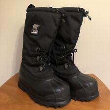 Sorel Woman's Glacier Snow Boots Winter Black Size 9