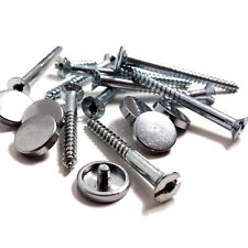 8 x MIRROR SCREW - ZINC - POLISHED CHROME DISC - 50mm
