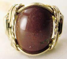 Bloodstone Gemstone Ring 14k Gold gf Mens Ladies #2