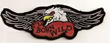 BORN WILD EAGLE EMBROIDERED PATCH