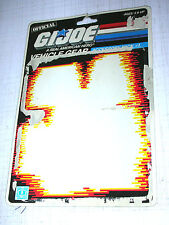 Vintage GI Joe Cobra FULL Cardback UNCUT Filecards 1986 Accessory Pack #1 Card