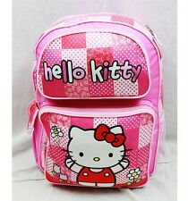 "Nwt Hello Kitty 16"" Large Backpack Bag Red Pink Newest Style Licensed Sanrio"