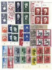 Germany DDR stamps 1957/59, quartine del periodo - 58 block of 4 used (F35)