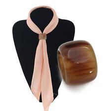 Buffalo Horn Scarf Ring Fashion Gifts for Women's Silk Scarfs NEW