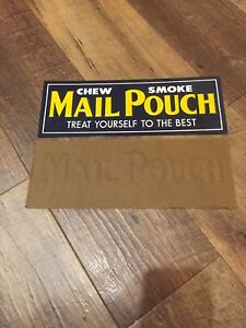 Vintage & NOS Mail Pouch Tobacco Embossed Tin General Store Advertising Sign
