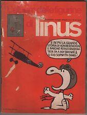 l' album delle figurine di LINUS allegato al n.73 1971 VUOTO red baron roy brown