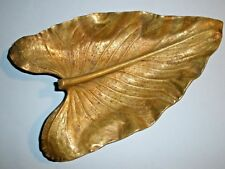 "Va Metal Crafter Oskar Hansen Brass Leaf Calla Lily 4 1/2"" x 7 3/4"""