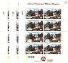 3 x 1996 USATC Army S160 Grosmont Station NYMR Railway Letter Train Stamp Sheets