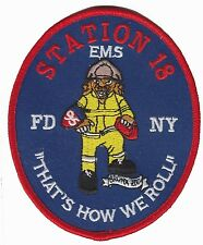 FDNY EMS 18 New York Fire Department patch (BRONX ZOO)
