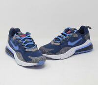 Youth Nike Air Max 270 React SE Size 4.5Y Navy/Grey/White (CN8282-400) Casual