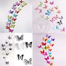 18PCS 3D Pegatina de pared de mariposa Arte Diseño Calcomanía PVC Casa Decor DIY
