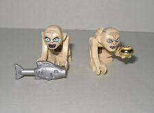 Lego el hobbit/señor de los anillos 2x Gollum (pequeñas y grandes Boca) + accesorios