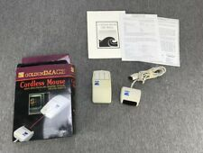 Vintage Golden Image Cordless Wireless Mouse for Commodore Amiga Computer