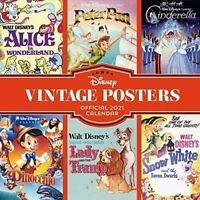 Disney Vintage Posters 2021 Official Square Wall Calendar - New & Sealed