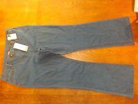 Ex-BHS Ladies Midwash Stretch Cotton Straight Jeans Size 22 Reg (£16) New
