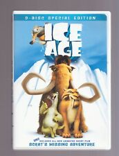 ICE AGE DVD 2 DISC SPECIAL EDITION BONUS SCRAT'S MISSING ADVENTURE