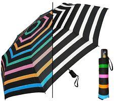 """44"""" Color-Changing Stripes Auto-Auto Mini Umbrella-RainStoppers UV Rain/Shine"""