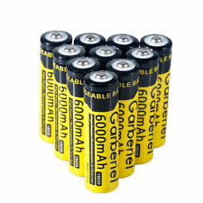 10PCS 3.7V 6000mAH Li-ion Rechargeable 18650 Battery For Flashlight Torch USA