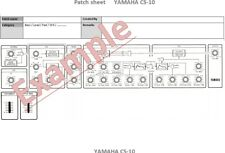 Yamaha CS-10; CS-15; CS-20M and CS-30 Patch sheets (blank)  (pdf file)