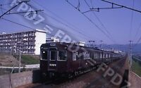 ORIGINAL SLIDE Japan Hankyu Ry. EMU 3329 Action'Expo-Station;Osaka;May 1970
