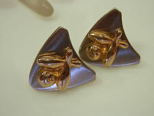 Hickok Signed Gold & Silver Tones Bowling Ball & Pins Cuff Links  31JE4
