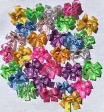 30 DBL LPD Flower print Dog Bows Dog Grooming Bows Handmade USA Poodle Yorkie