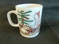 Christmas Geese Ducks Nesting by Lake  Coffee Mug  Midwest of Cannon Falls 1984