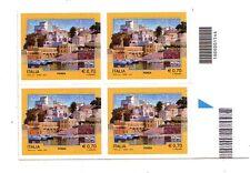 Italia  70 c. Ponza  2013 codice a barre 1544 quartina logo blu