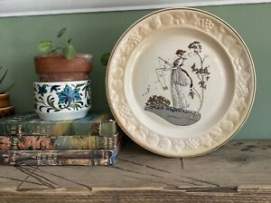 Vintage Royal Worcester Plate Decorative Palissy Jane Art Deco Style Display