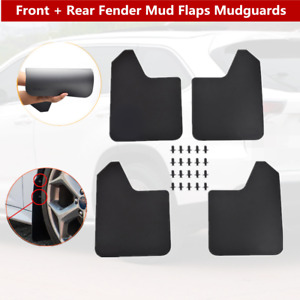 4xCar SUV Pickup Front+Rear Fender Mud Flaps Mudguards Splash Guards Protection